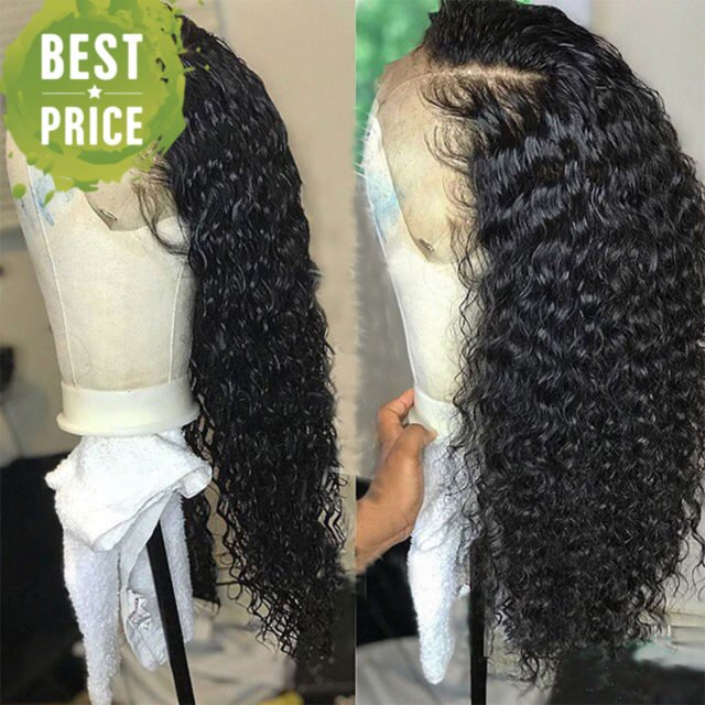 RULINDA Curly Wig Brazilian Lace Front Human Hair Wigs With Baby Hair Lace Front Wig Non-Remy Hair Pre Plucked Bleached Knots
