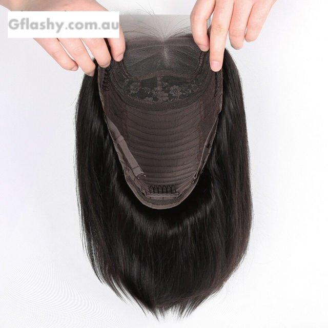 Aircabin Hair 4x4 Lace Closure Human Hair Wigs Brazilian Hair Short Bob Wig Non Remy For Black Women Glueless Lace Closure