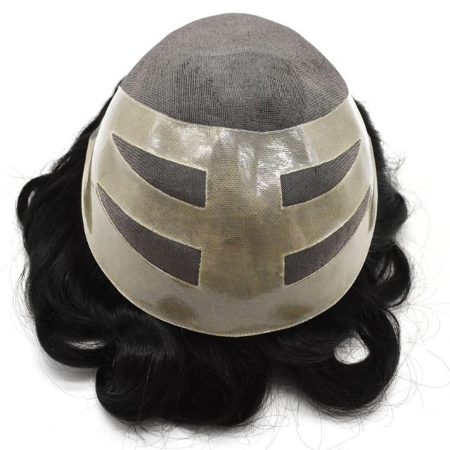 Men Toupee indian 8A Remy Human Hair Wig For Males Durable Hair Piece MONO With NPU Man Hair System Replacement Avejoice